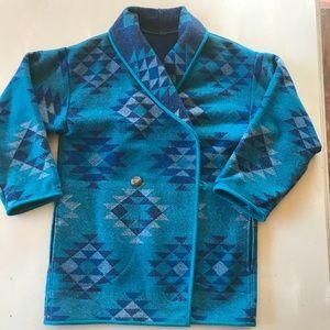 Vintage Wool Western Aztec Sweater Jacket